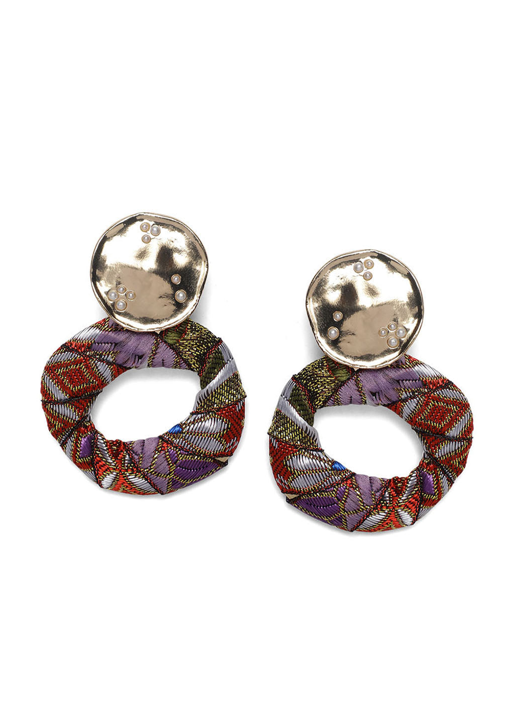 Multicolor Fabric Earring