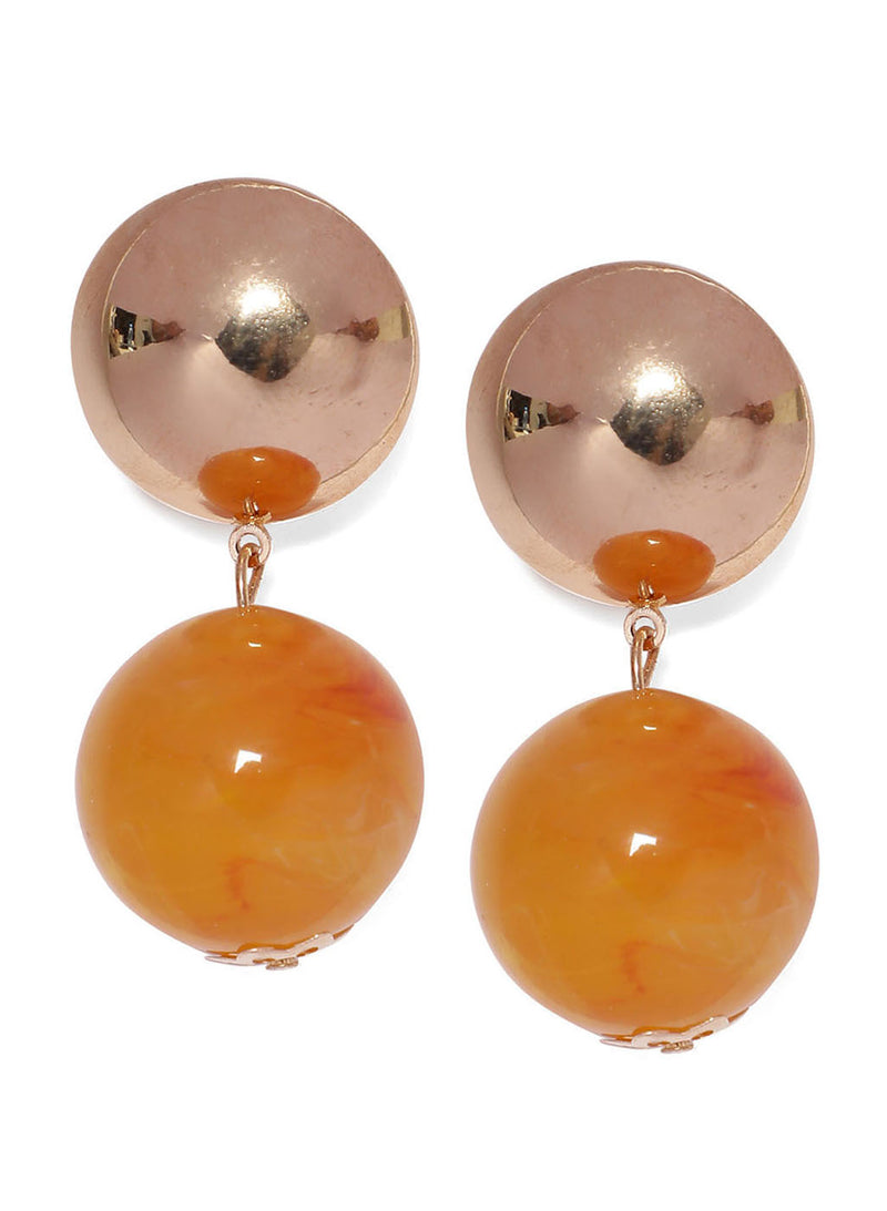 Round Shaped Gold Earrings