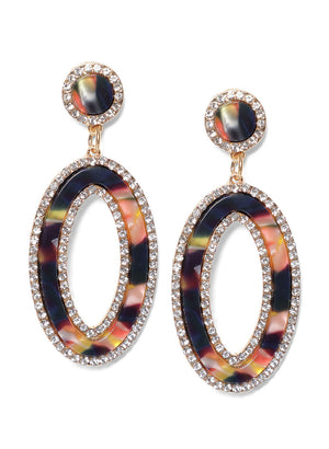 Multicolor Stone Studed Earrings