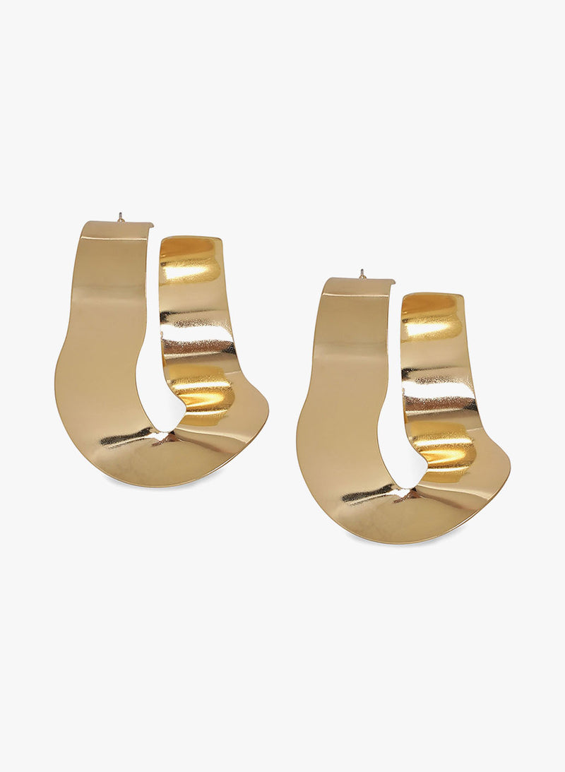 Irregular Shape Gold Earrings