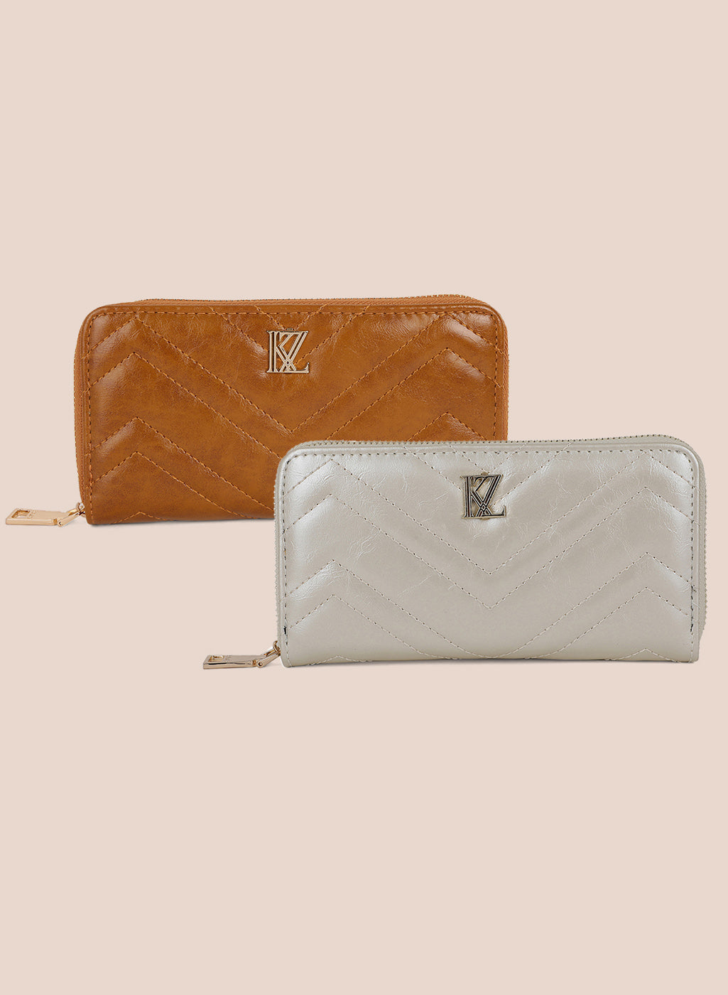 Quilted Wallet Set