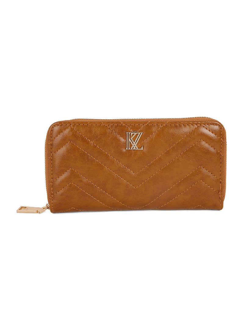 Tan Quilted Wallet