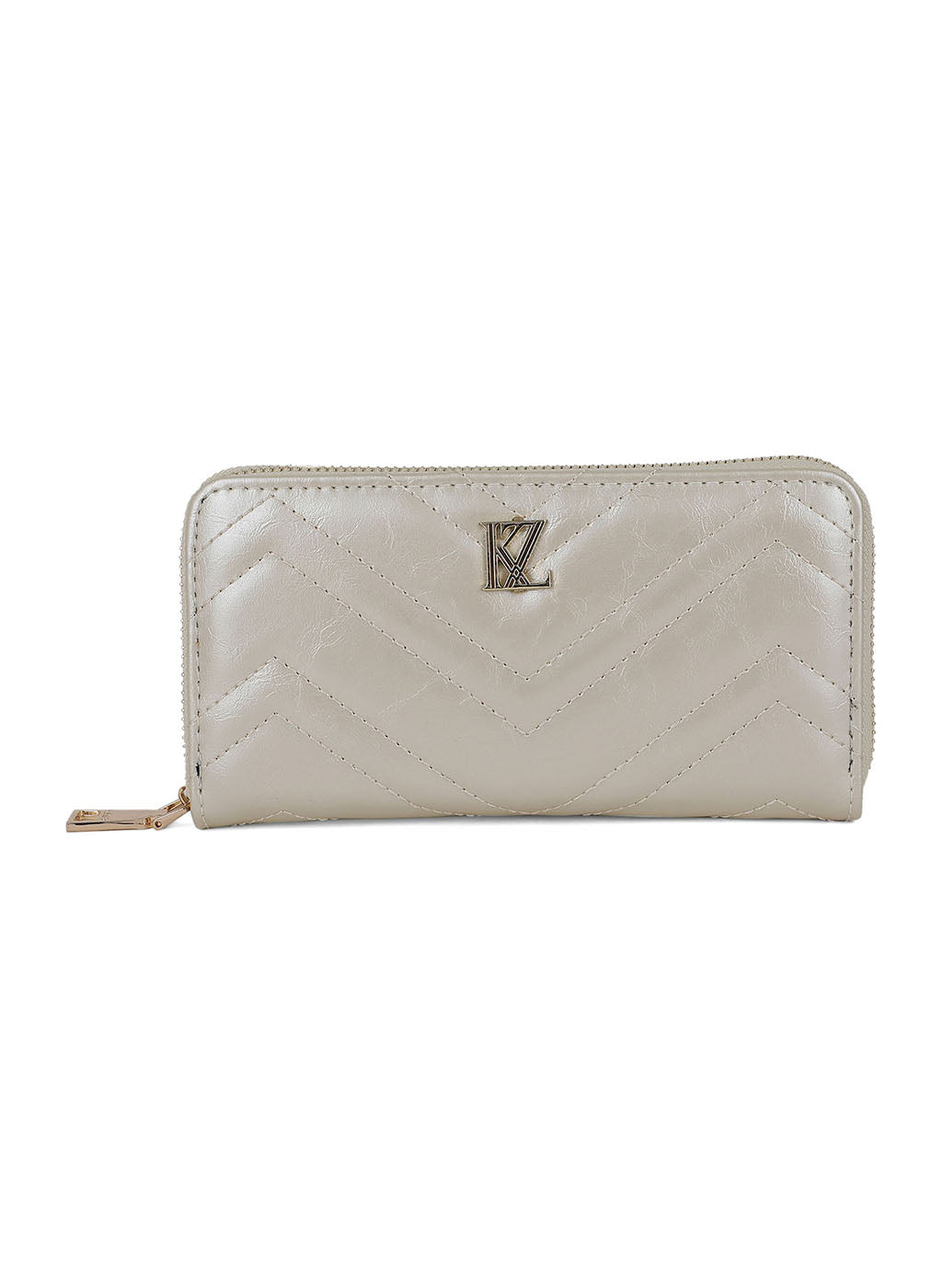 Ivory Quilted Wallet (Buy 2 Get Extra 30% Off)