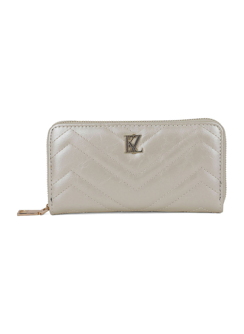 Ivory Quilted Wallet
