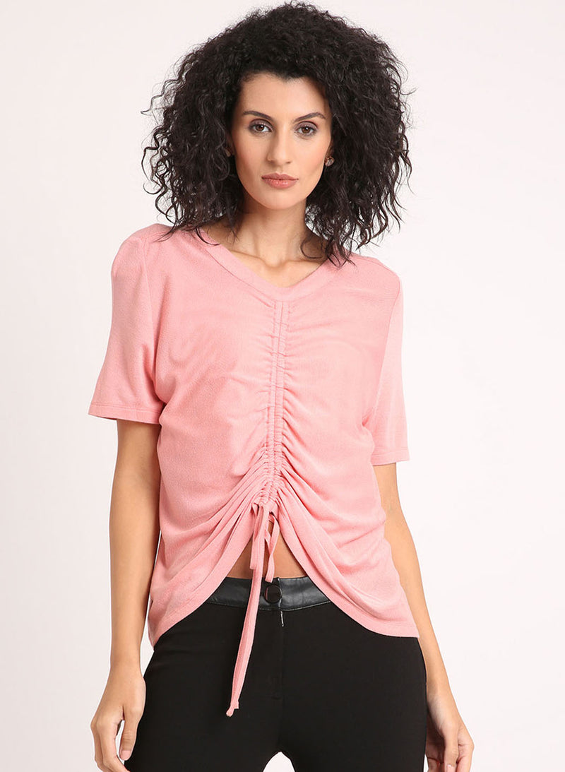 T Shirt With Ruching Panel On Front (Buy 2 or more Get 20% Off)