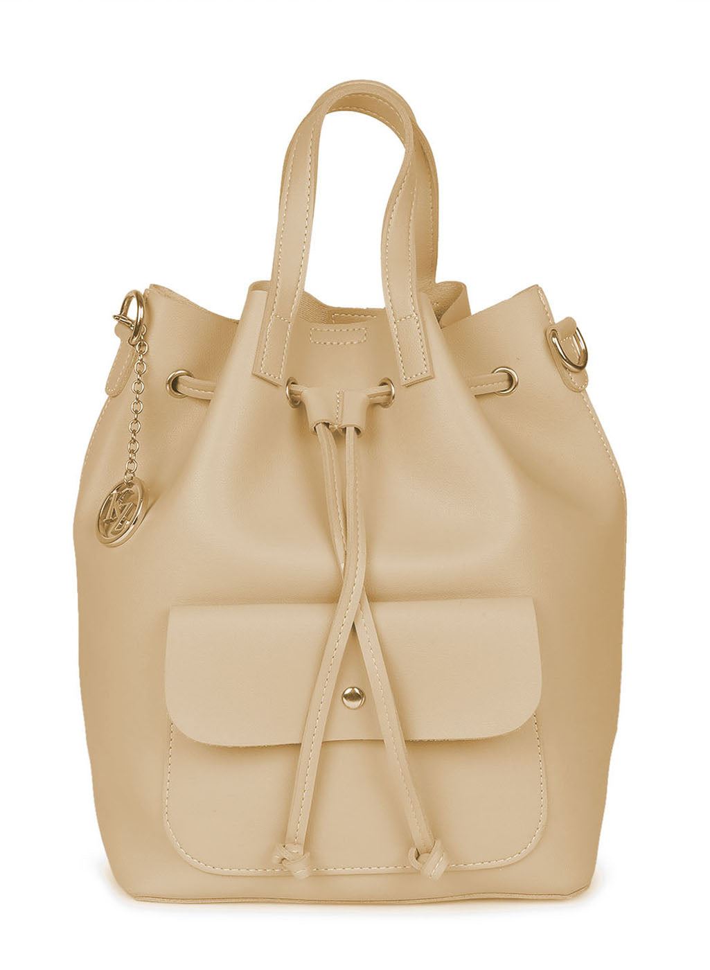 Beige Color Backpack