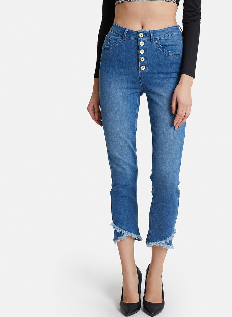 Jeans With Button Detail