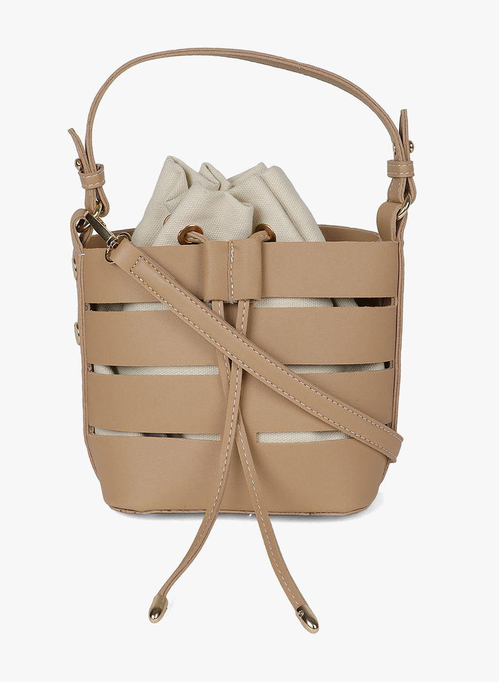 Light Brown Color Bucket Bag