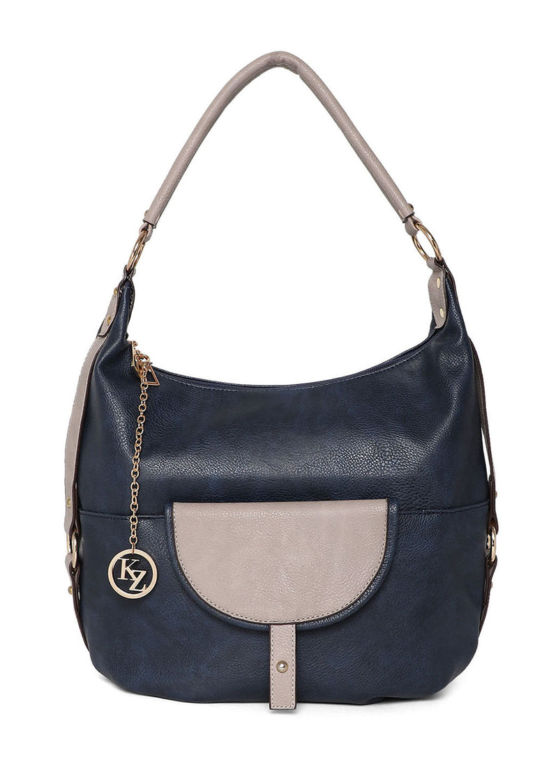 Two Tone Pocket Designed Shoulder Bag