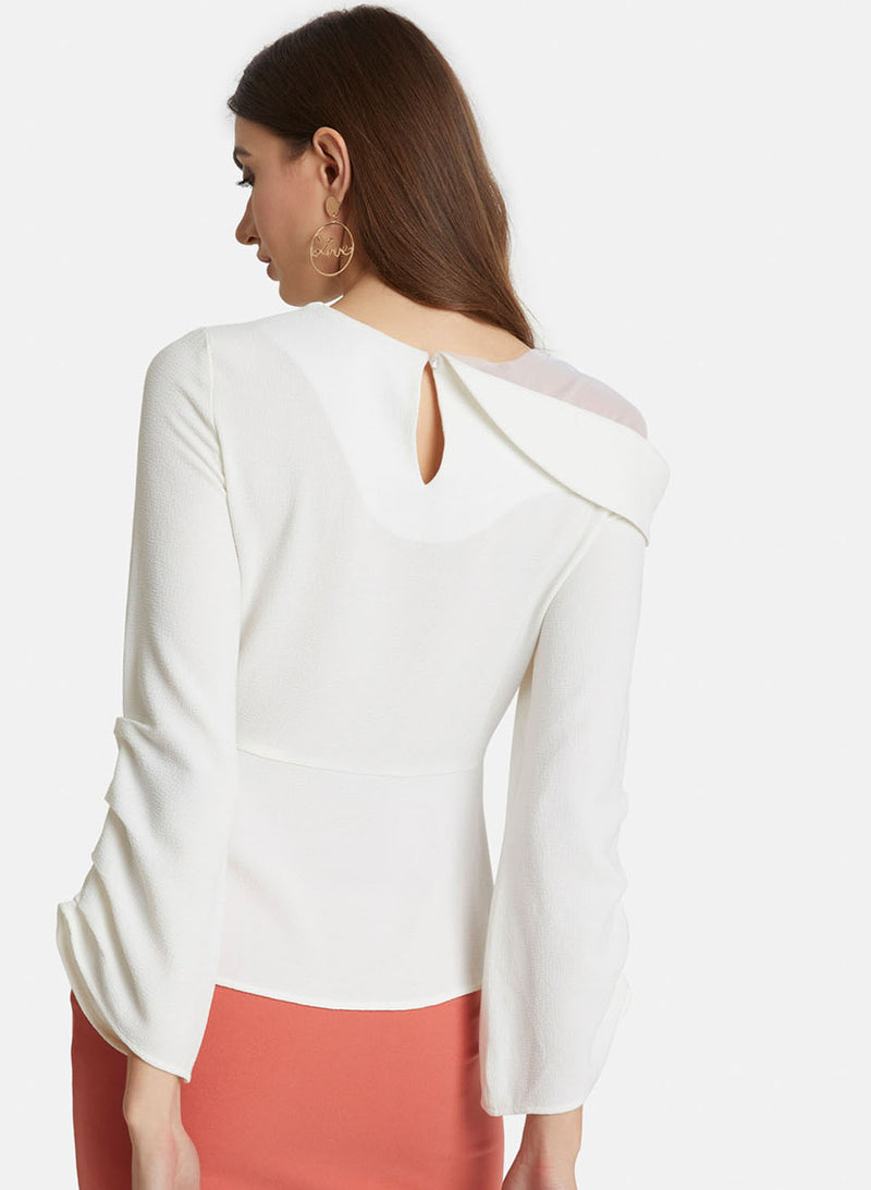 Shoulder Mesh Sleeve Detail Top (Additional 20% OFF)