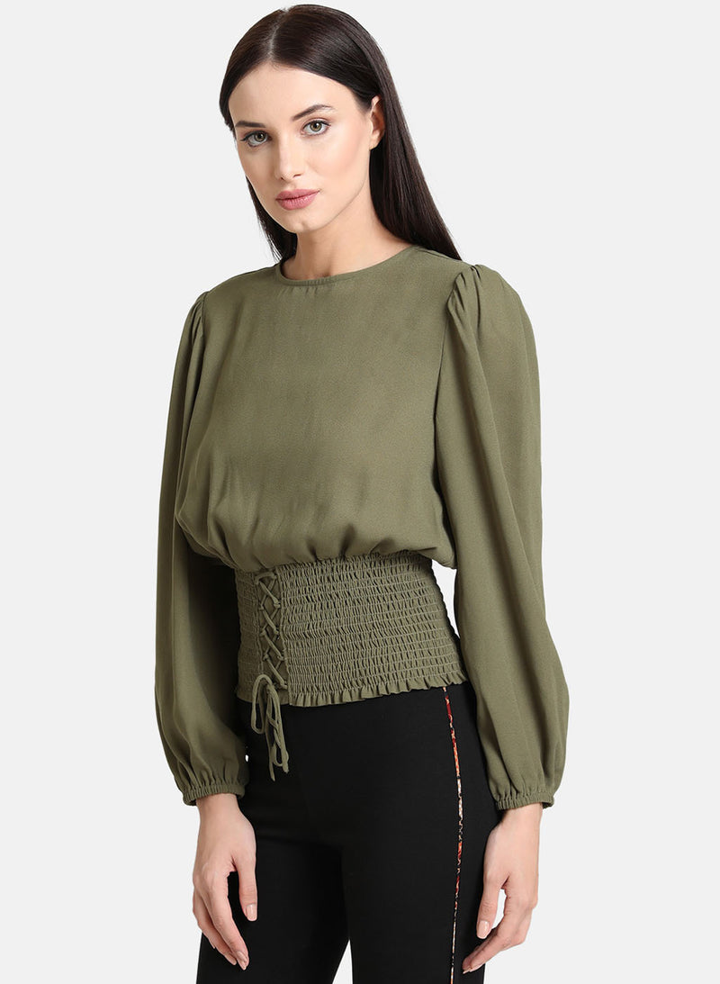 Full Sleeve Top  With Smocking Band (Additional 20% OFF)