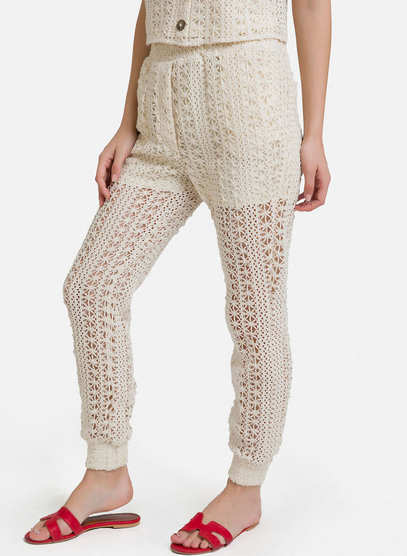 Stretch Crochet Joggers