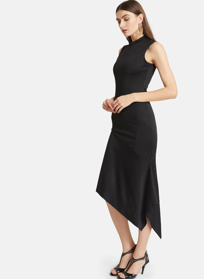 Sleeveless Asymmetric Midi With A Band Neck (Additional 20% OFF)