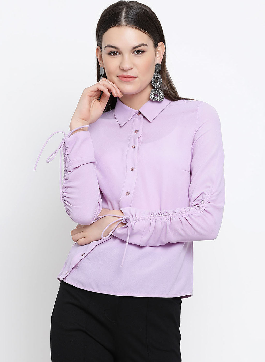 Drawstring Detail Shirt