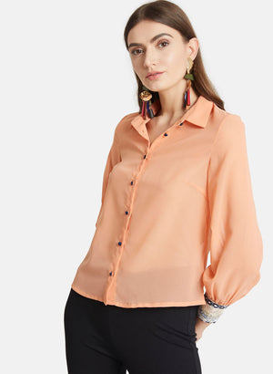 Printed Cuff Shirt (Additional 20% OFF)