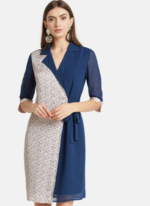 Shirt Dress With Polka Print