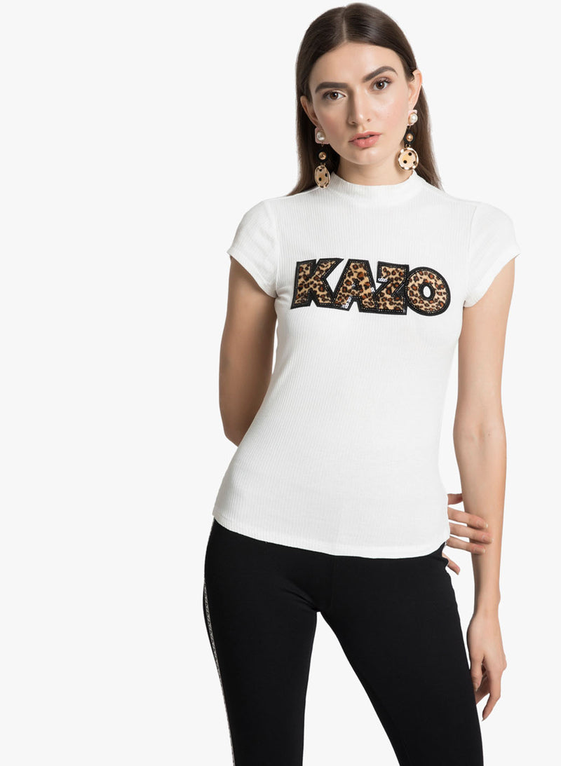 T Shirt With Kazo Patch