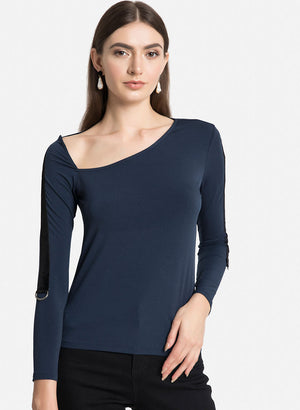 Asymetric Top With Neck Detail