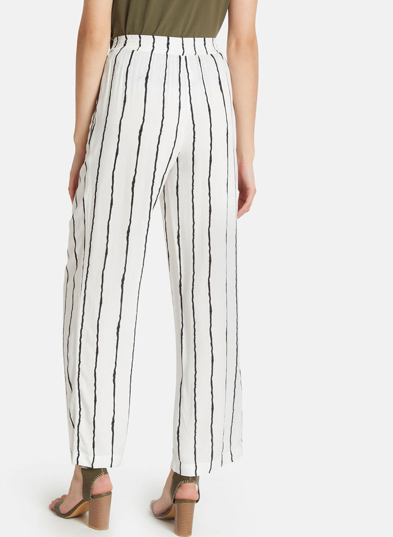 White And Black Stripe Trouser
