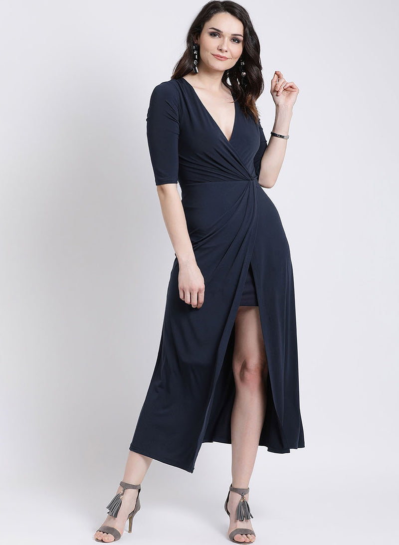Full Sleeves Wrap Dress (Additional 20% OFF)
