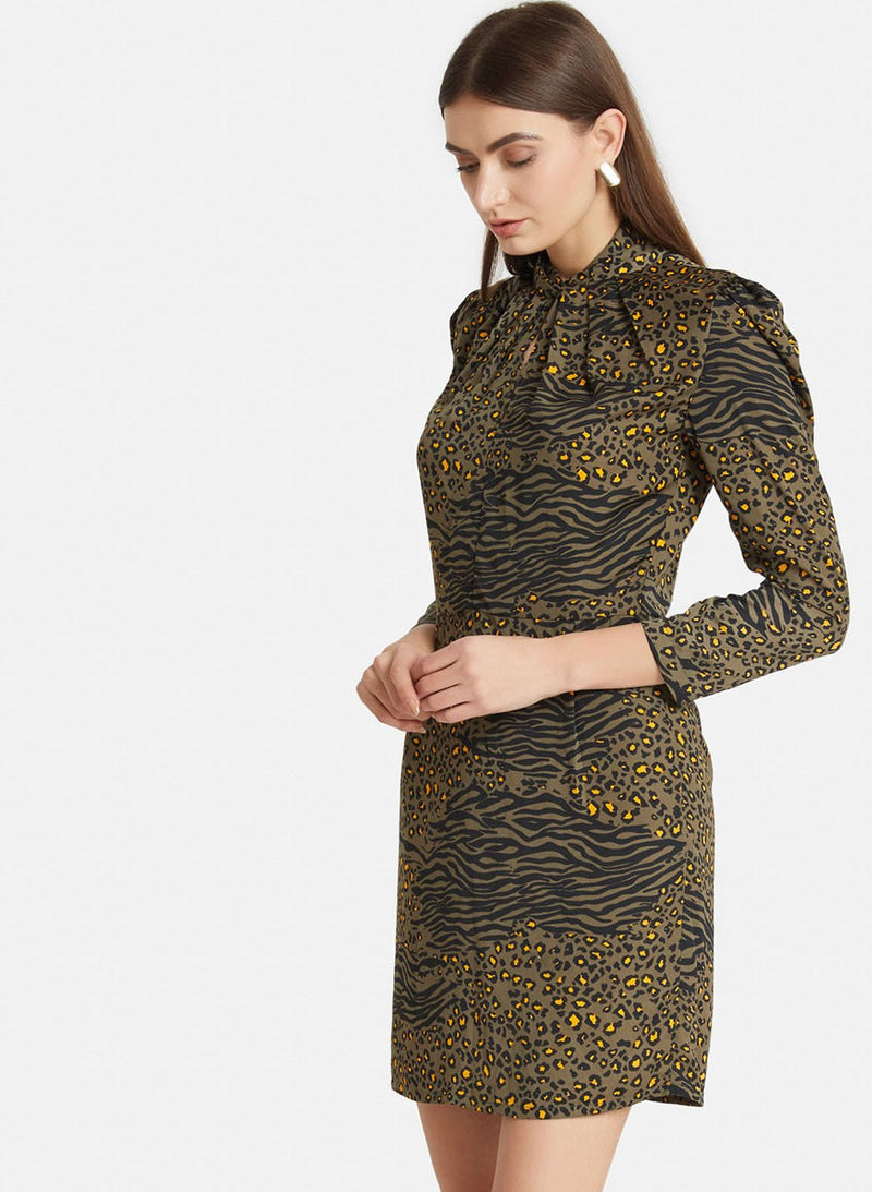 Leopard Print Mini Dress (Additional 20% OFF)