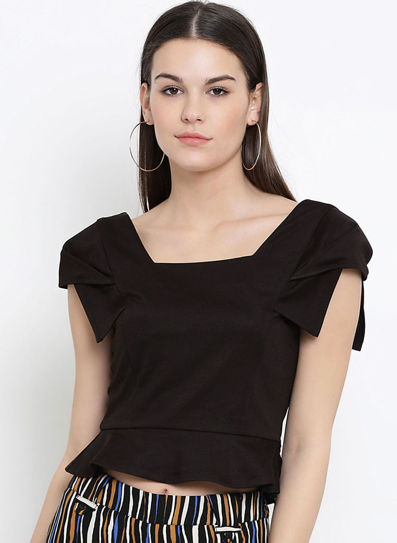 Square Nek Peplum Top