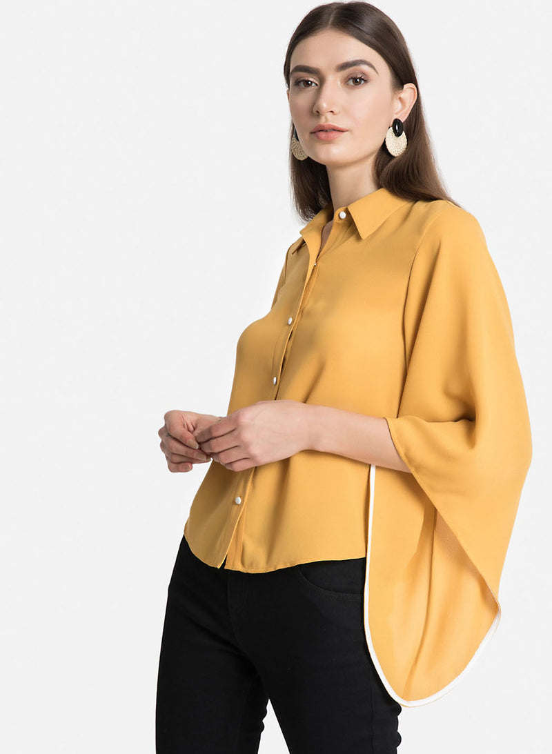 Flared Sleeves Shirt