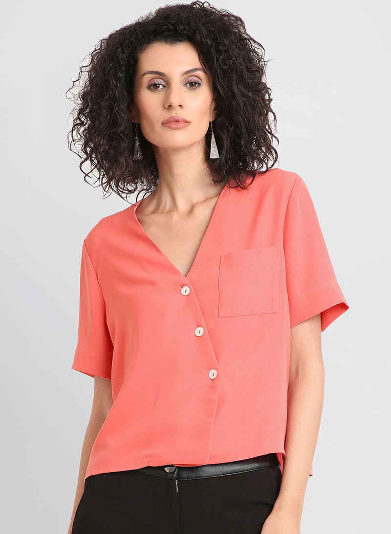 Half Sleeved Top With Button Detailing (Additional 20% OFF)