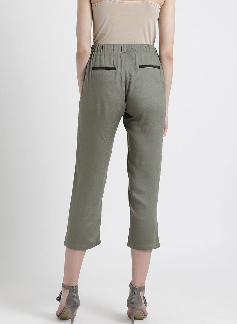 Olive 3/4Th Semi Fitted Trouser (Additional 20% OFF)