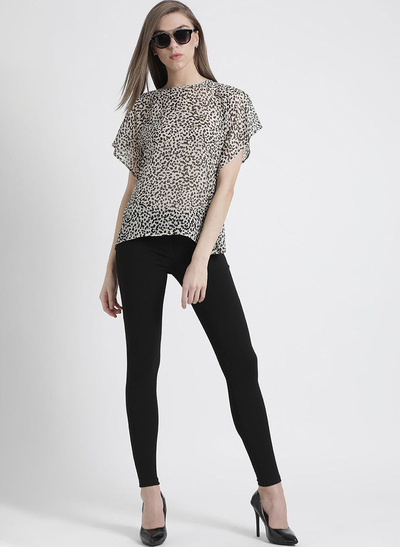 Leo Printed Loose Fit Top (Additional 20% OFF)