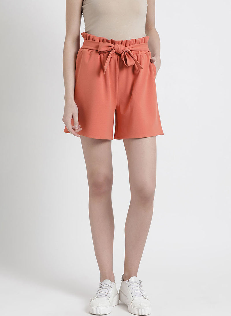 Solid Shorts With Tie Up (Additional 20% OFF)