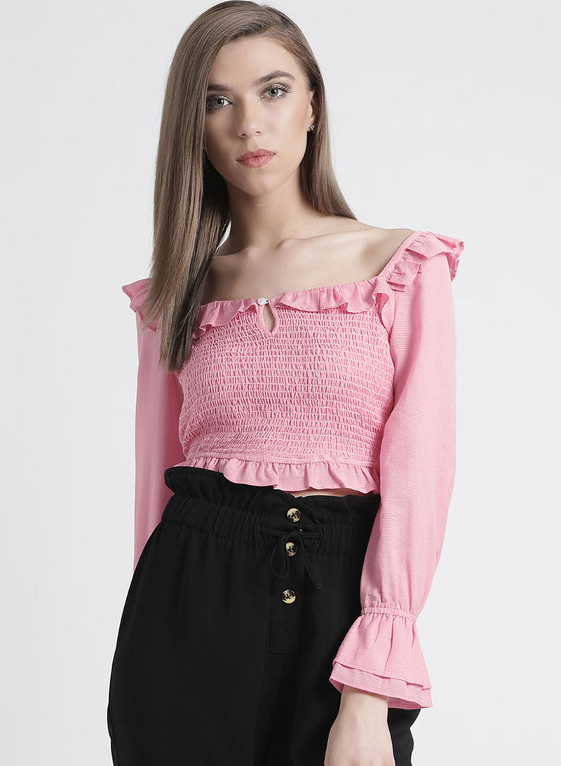 Full Sleeves Top With Smocking