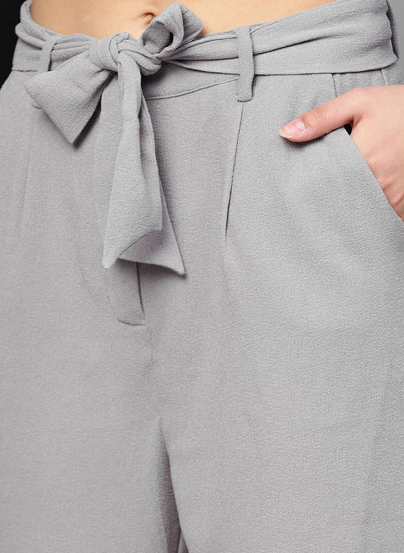 Grey Color Fiited Trouser