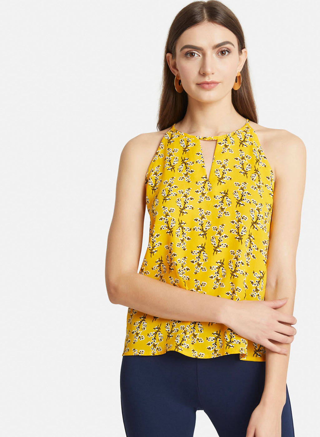 Halter Neck Printed Top