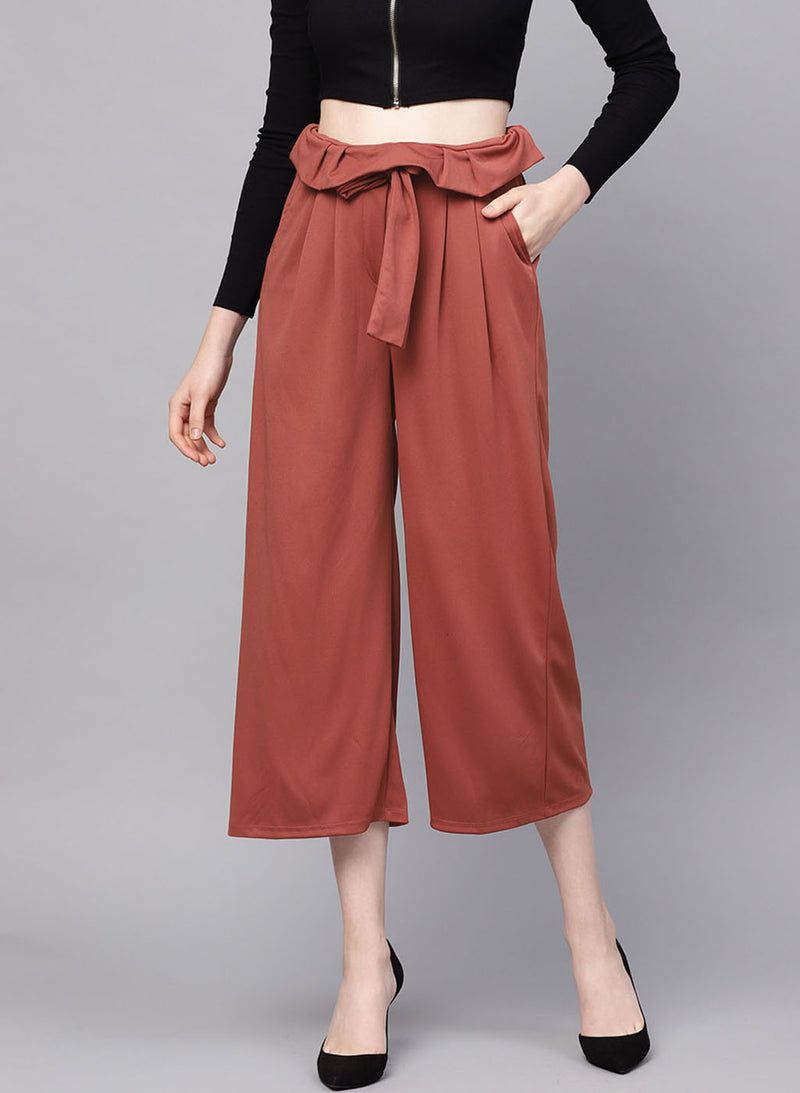 Paper Bag Culotte With Belt (Additional 20% OFF)