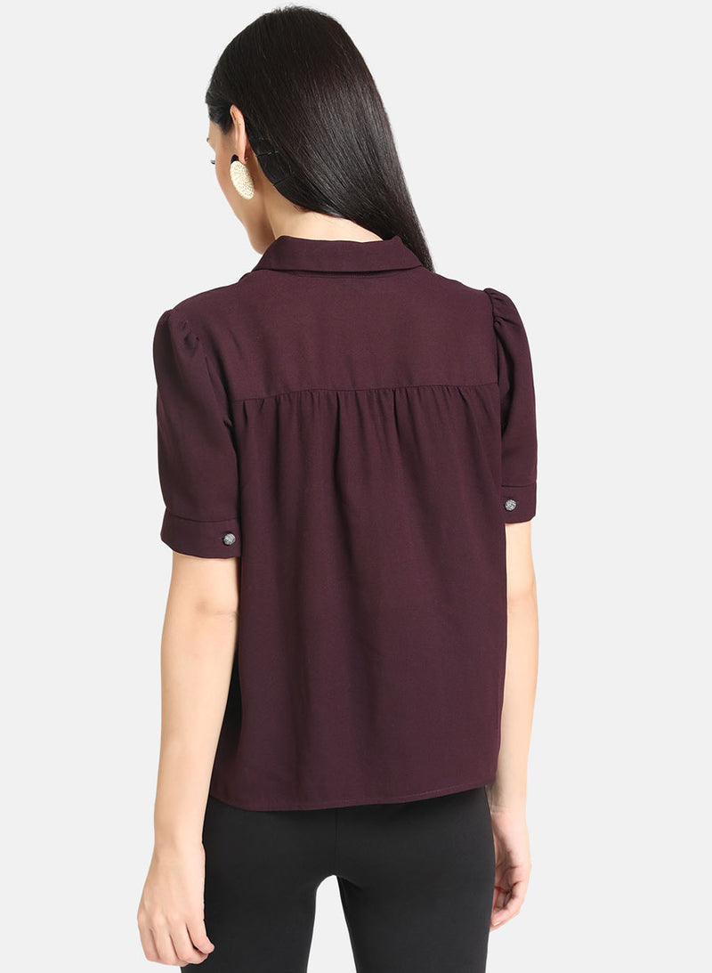 Solid Collar Top