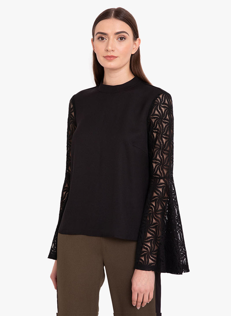 Solid Top With Flared Sleeve