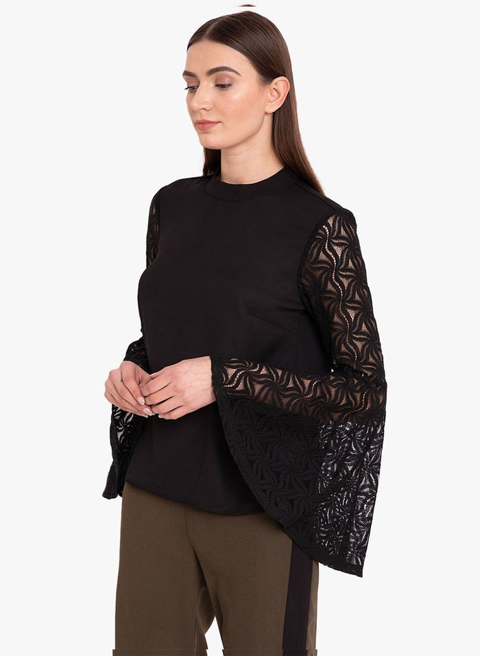 Solid Top With Flared Sleeve (Additional 23% OFF)