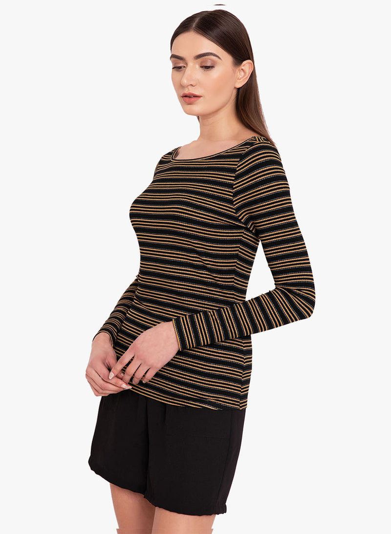 Striped Lurex T-Shirt