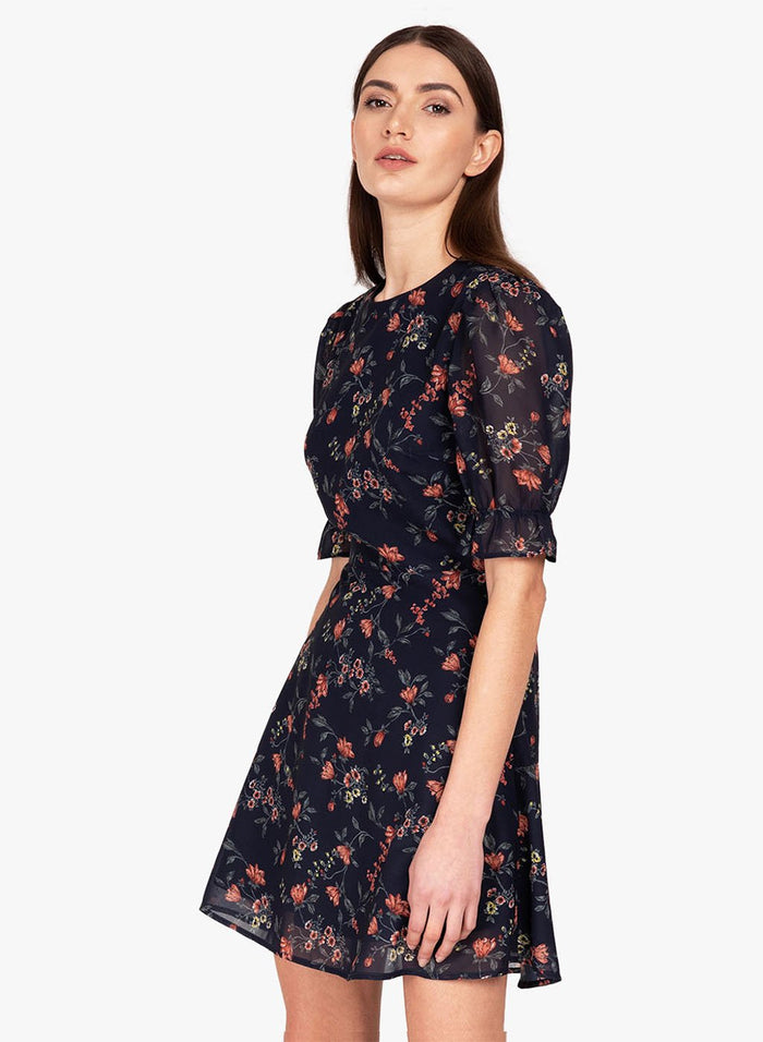 Printed Skater Mini Dress (Additional 20% OFF)