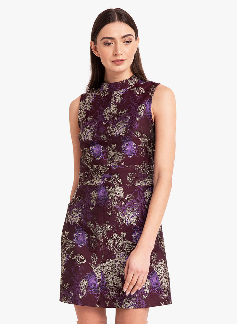 Jacquard Dress With Eyelet Detail