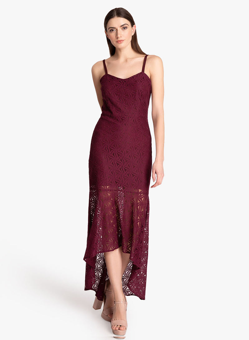 Lace High Low Maxi Dress (Additional 20% OFF)