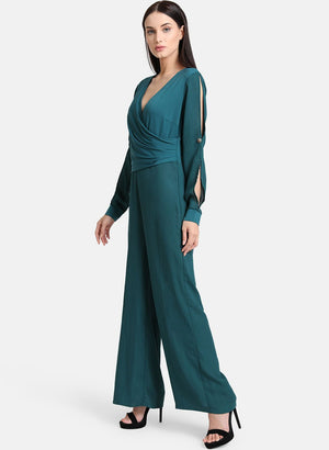 Draped Panel Jumpsuit