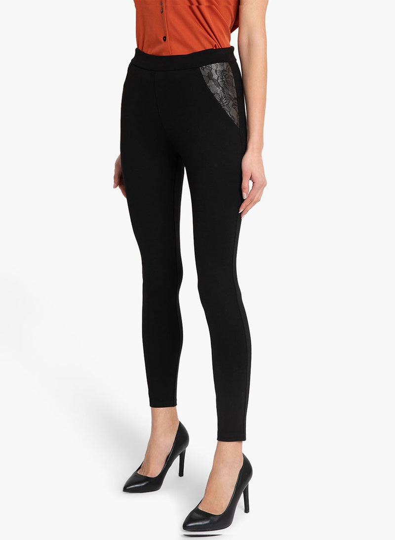 Lace Pockets Jeggings