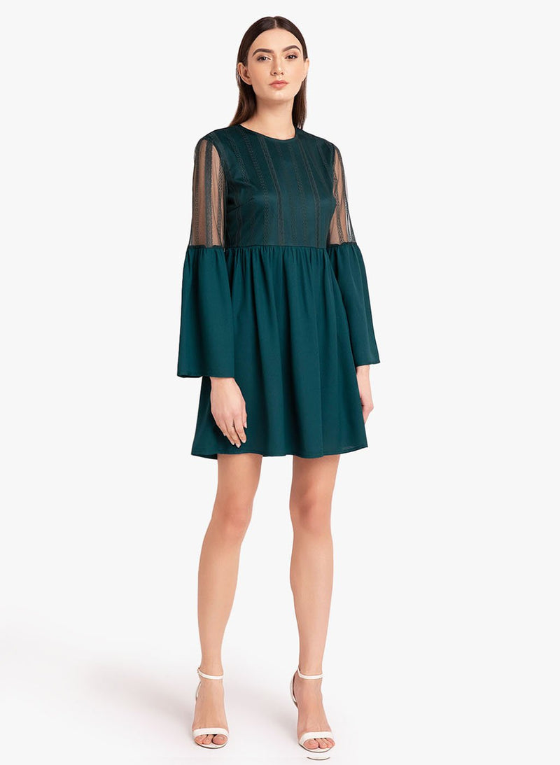 Bell Sleeves Mesh Dress (Additional 20% OFF)