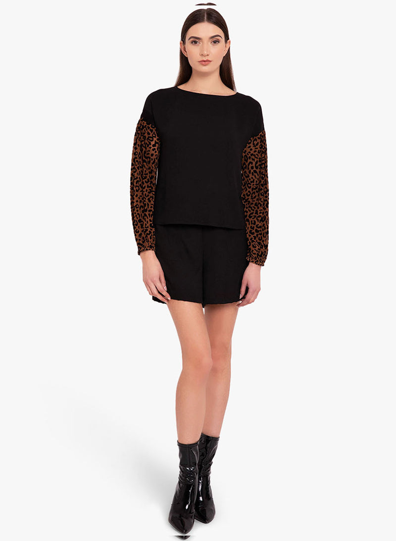 Animal Sleeves Boxy Top