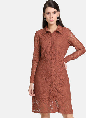 Lace Shirt Dress(Additional 20% on 2)