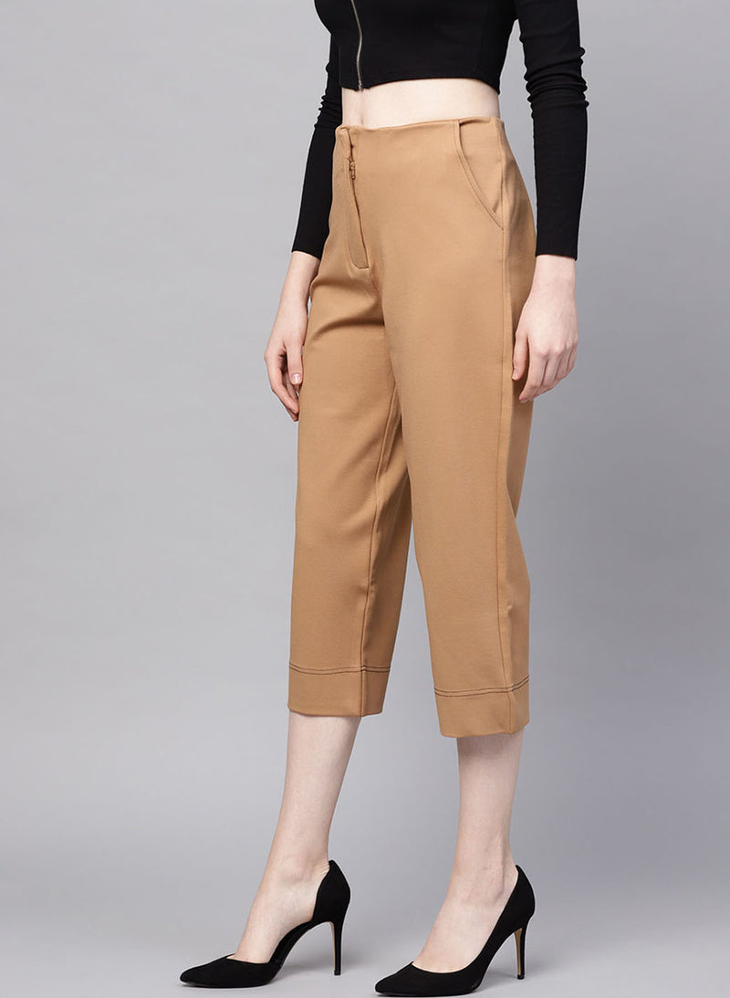 Brown Colored Loose Fit Trouser With Pockets(Additional 20% on 2)