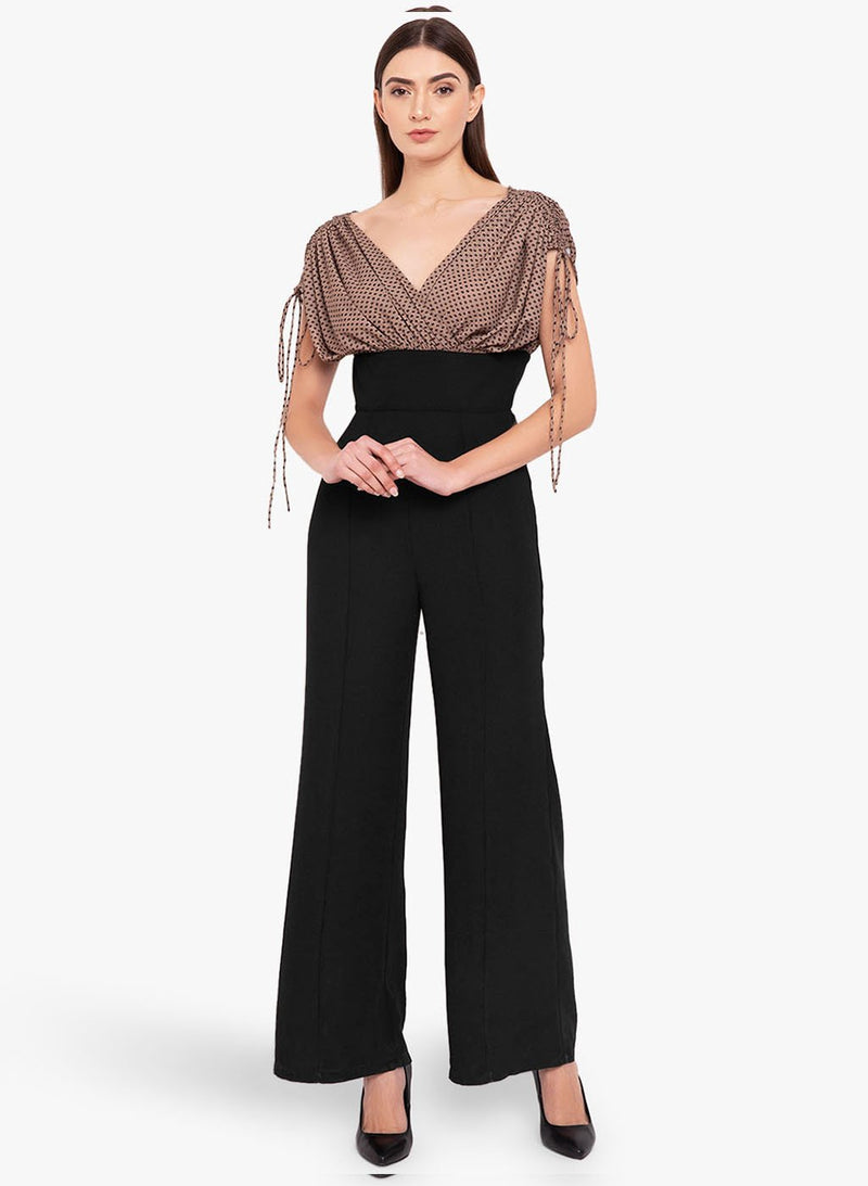 Coffee Bean Print Jumpsuit (Additional 20% OFF)