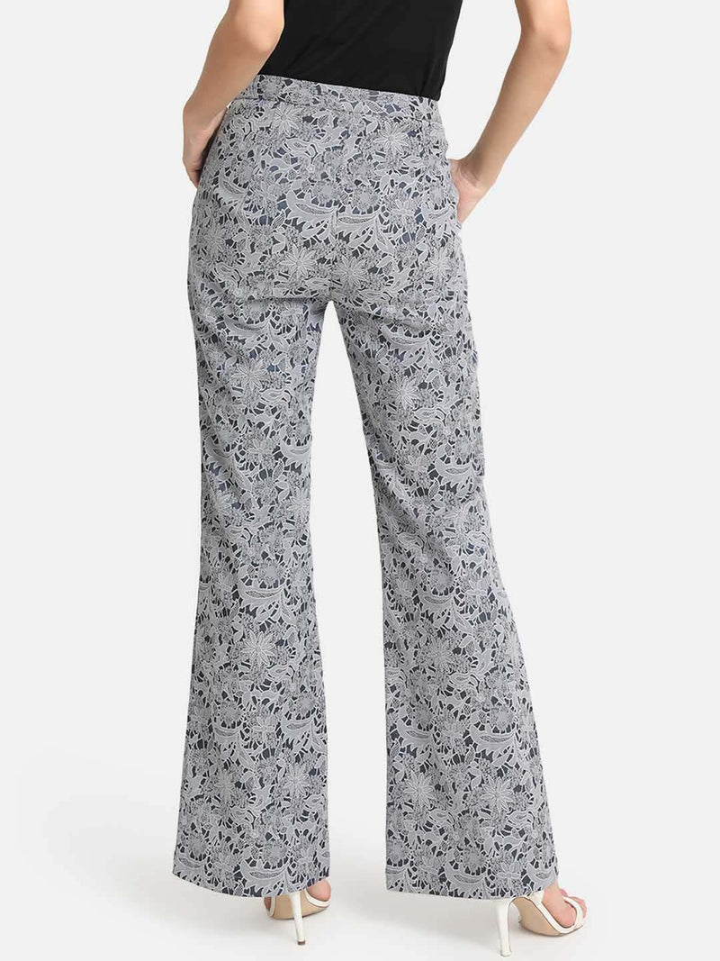 Flared Bottom Jacquard Pants (Additional 20% OFF)